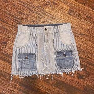 Levi's Striped Denim Skirt